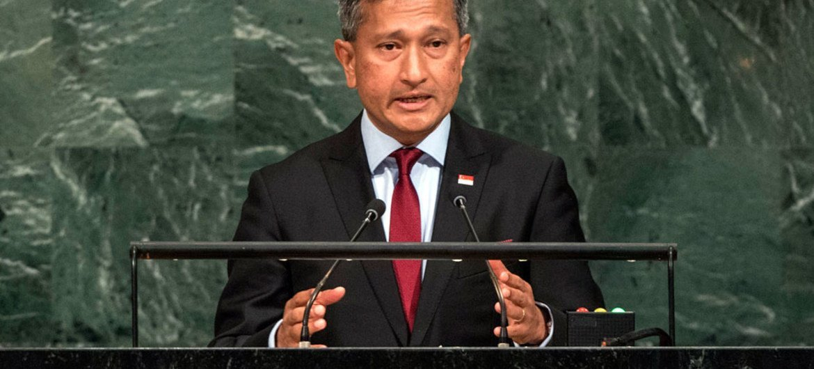 Vivian Balakrishnan, Minister for Foreign Affairs of Singapore, addresses the general debate of the General Assembly's seventy-second session.