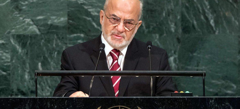 Ibrahim Abdulkarim Al-Jafari, Ministre des Affaires étrangères d'Iraq, lors du débat général de la 72ème session de l'Assemblée générale.