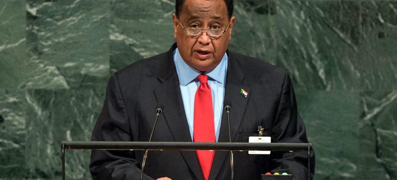 وزير خارجية السودان.