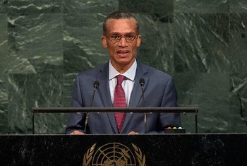 Dennis Moses, Minister for Foreign and CARICOM Affairs of Trinidad and Tobago, addresses the general debate of the General Assembly's seventy-second session.