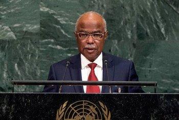 Brahim Hisseine Taha, Ministre des affaires étrangères, de l'intégration africaine et de la coopération internationale de la République du Tchad, lors du débat général de la 72ème session de l'Assemblée générale.