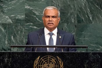 Mohamed Asim, Minister for Foreign Affairs of the Republic of Maldives, addresses the general debate of the General Assembly's seventy-second session.