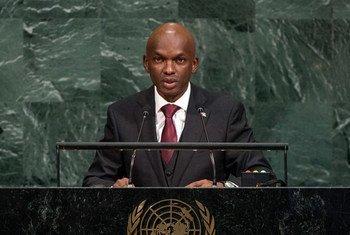 Alain Amié Nyamitwe, Ministre des relations extérieures et de la coopération internationale de la République du Burundi, lors du débat général de la 72ème session de l'Assemblée générale.