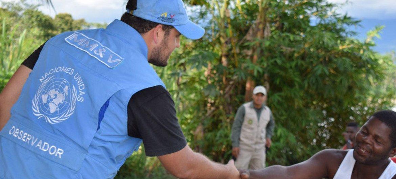 Un observateur de la Mission de vérification de l'ONU en Colombie. Photo Mission de l'ONU en Colombie