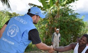 An observer from the UN Verification Mission in Colombia, which began its work on 26 September 2017.