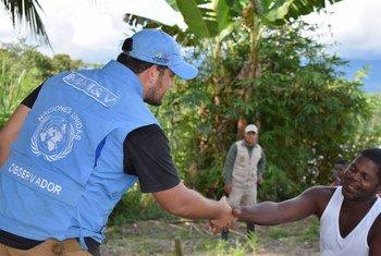 Observador de la Misión de la ONU en Colombia. Foto: ONU