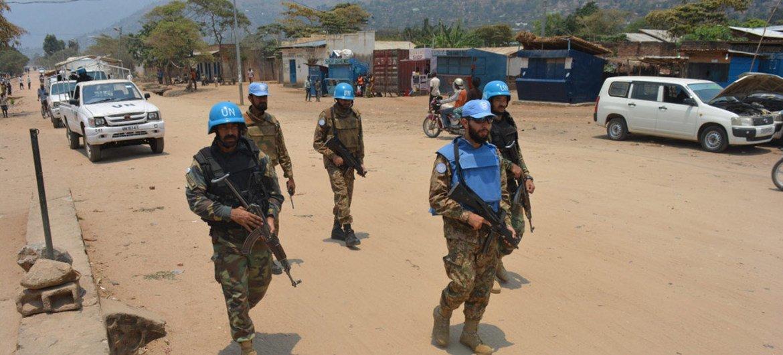 Des Casques bleus de la MONUSCO patrouillent à Uvira dans le Sud-Kivu, en RDC (archives). Photo :MONUSCO/Force