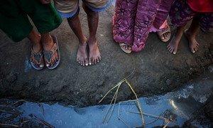Displaced persons near Sittwe, Myanmar in December 2013. IRIN/David Longstreath