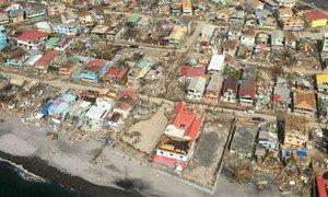An aerial shot of hurricane-battered Dominica.
