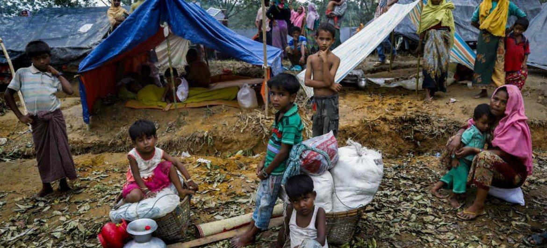 Des réfugiés rohingyas à Cox's Bazar, au Bangladesh. Photo PAM/Saikat Mojumder
