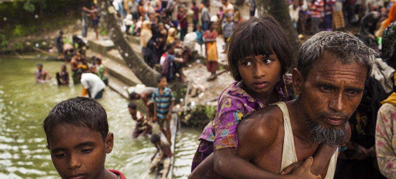 За последние пять недель из Мьянмы в Бангладеш прибыло  509 тысяч беженцев из числа рохинджа.  Фото ЮНИСЕФ