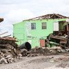 آثار الإعصار إيرما في دومينيكا.