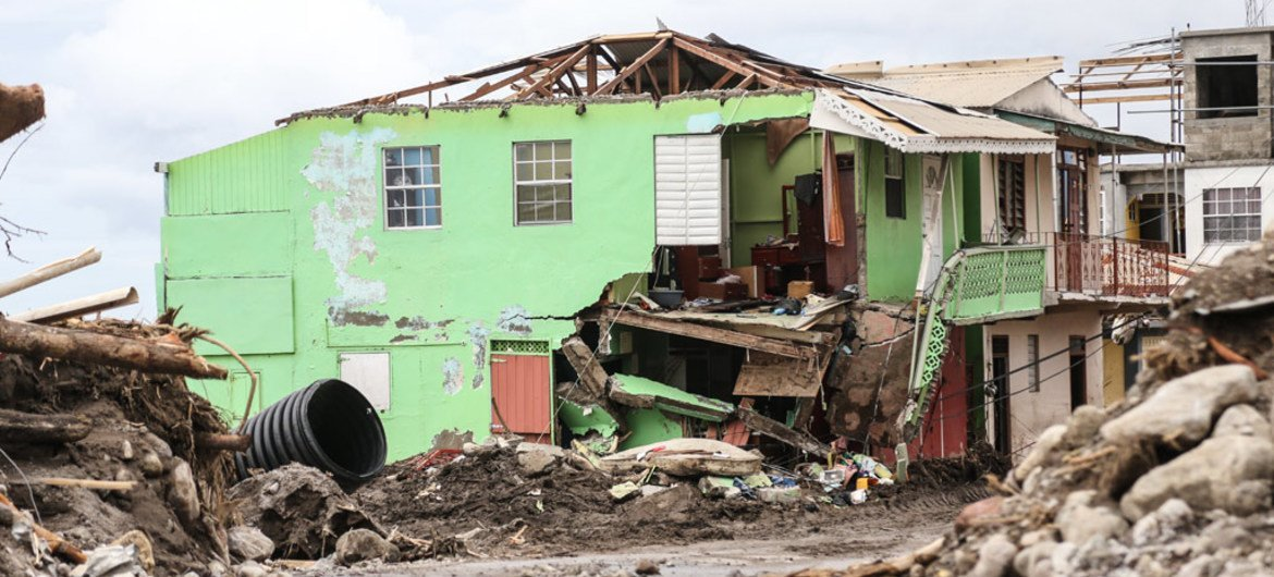 A house destroyed by Hurricane Irma in Loubiere, about 15 minutes' drive from Roseau, capital of Dominica.