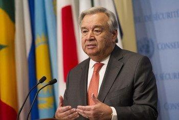Le Secrétaire général de l'ONU, António Guterres. Photo ONU/Rick Bajornas