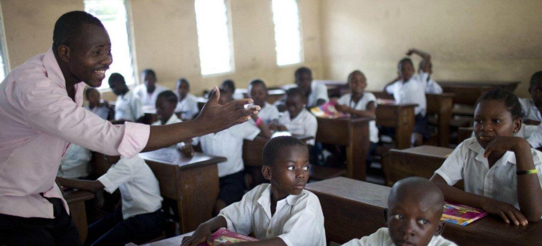 L'école primaire Saint Louis à Kinshasa, en RDC. Photo Dominic Chavez/Banque mondiale