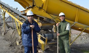 In Tajikistan, a UNDP-supported early recovery project resulted in the rehabilitation of an abandoned gravel factory.