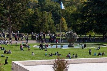 Le Parc de l'Ariana du Palais des Nations à Genève.