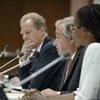 Le secrétaire général de l'ONU, António Guterres, s'exprimant lors d'un événement organisé à l'occasion de la Journée mondiale contre la peine de mort.