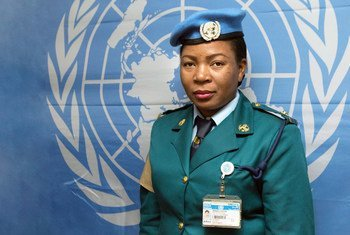 Annah Chota, UN Police Officer serving with the UN Interim Security Force for Abyei (UNISFA).