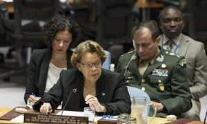 Sandra Honoré, Special Representative of the Secretary-General and Head of the UN Stabilization Mission in Haiti (MINUSTAH), briefs the Security Council.