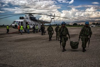 MINUSTAH provides logistical support to Haiti's Provisionary Electoral Council to transport ballots from around the country to the capital, Port-au-Prince, for tabulation during the 2015 presidential and legislative elections.