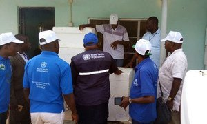 WHO personnel supplying and distributing Yellow Fever vaccines, supplies and other materials in Kogi state, Nigeria.