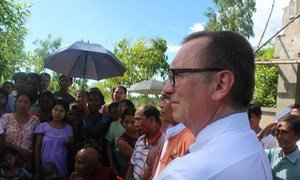 Under-Secretary-General for Political Affairs Jeffrey Feltman in Myanmar during an official visit that ended on 17 October 2017.