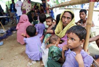 在孟加拉国考克斯巴扎地区的一位罗兴亚难民妇女。