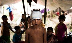 Восьмилетний  Мухаммед  из Мьянмы - один из беженцев, нашедших приют в  Бангладеш.