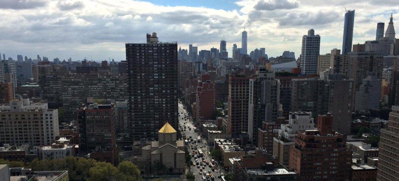 Вид на Нью-Йорк, США.