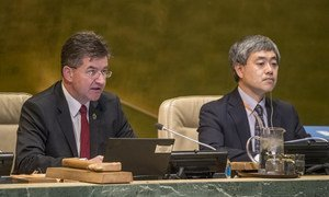 General Assembly President Miroslav Lajčák addressing the Assembly's annual joint debate on the New Partnership for Africa's Development and the '2001-2010: Decade to Roll Back Malaria in Developing Countries, Particularly in Africa.'
