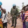 UN peacekeepers patrol the PK5 neighbourhood of Bangui, the capital of the Central African Republic.