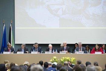 为援助罗兴亚难民募捐会议在日内瓦举行。联合国人道协调厅/Violaine Martin