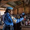 Gladys Ngwepekeum Nkeh is a United Nations police officer (UNPOL) working with local communities in Bangui, Central African Republic.