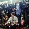 Periodistas en la sede de Naciones Unidas. Foto: Archivo/OSSG