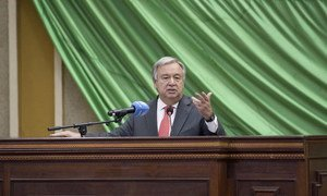 Secretary General António Guterres address to the National Assembly in Central African Republic.