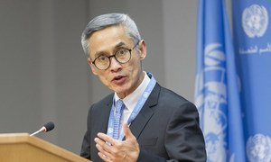 Press briefing by Vitit Muntarbhorn, Independent Expert on protection against violence and discrimination based on sexual orientation and gender identity.