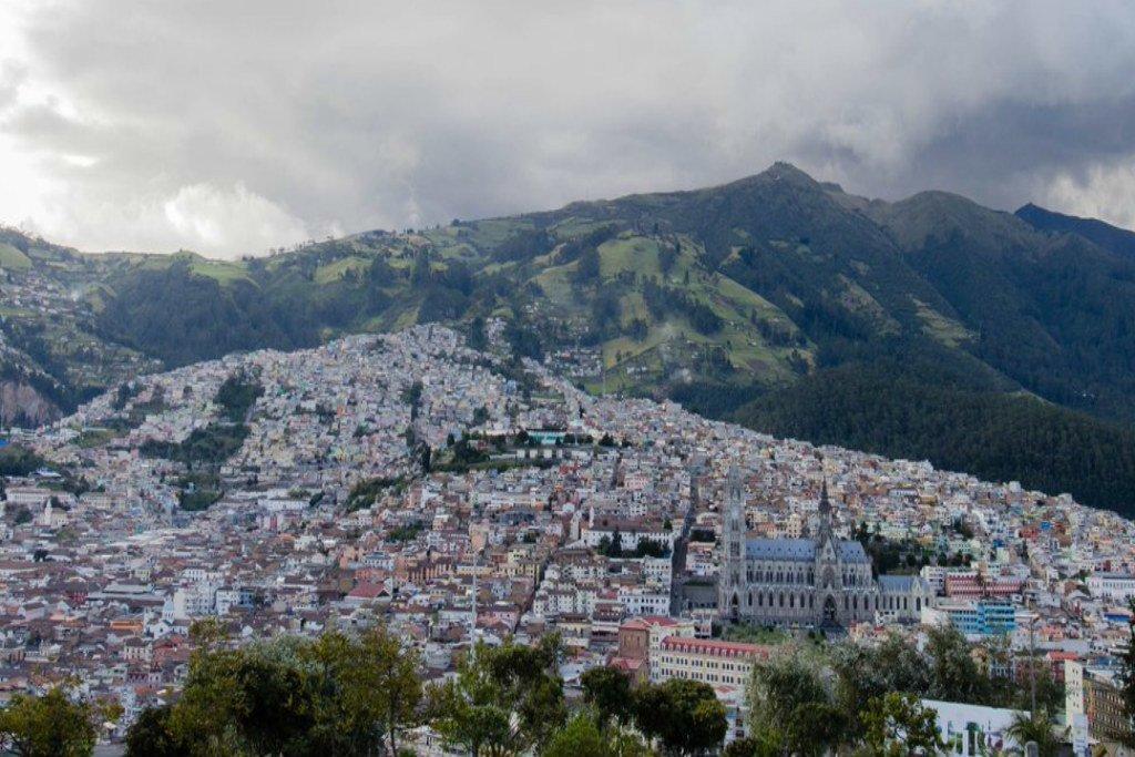 La ville de Quito, capitale de l'Équateur