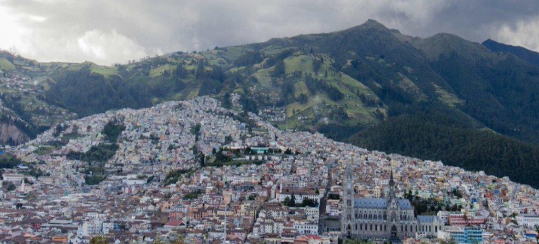 La ciudad de Quito en Ecuador.