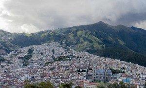 The city of Quito, Ecuador.