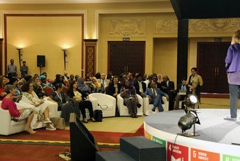 Participants at the WEIF plenary panel discussion on women in industry.