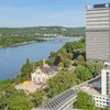 Vue aérienne du campus de l'ONU à Bonn, en Allemagne: