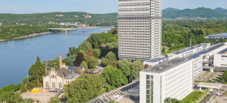 Aerial view of the Bonn Campus, Bonn, Germany.