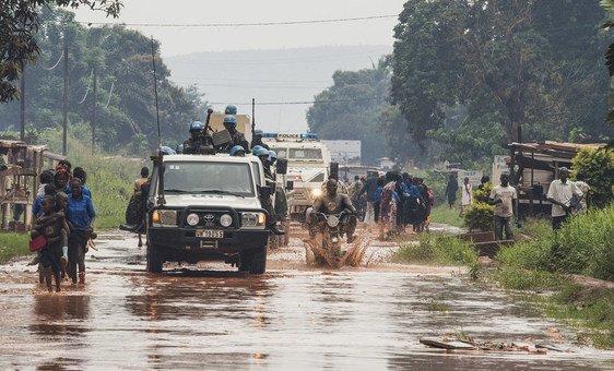 Patrulha militar em Bangui, na República Centro-Africana