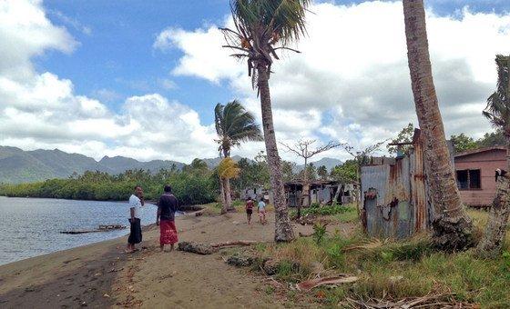 一个因气候变化而不得不搬迁的村落。