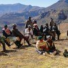 Women and men members from a local community in Lesotho participate in consultations to develop district plans to address climate change impacts and food insecurity. (file)