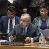 Zahir Tanin, Représentant spécial du Secrétaire général et Chef de la Mission d'administration intérimaire des Nations Unies au Kosovo (MINUK), informe le Conseil de sécurité.