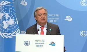 Secretary-General António Guterres addresses the UN Climate Conference (COP23) in Bonn, Germany.