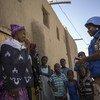 Un Casque bleu de la MINUSMA en patrouille à Tombouctou. Photo MINUSMA/Harandane Dick