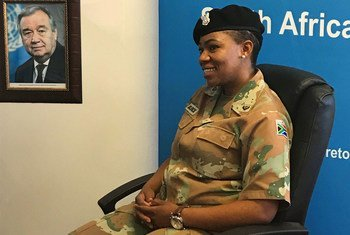 Lauréate du Prix 2017 du défenseur de l'égalité des sexes de l'ONU, le Major Pearl Block a servi comme officier des opérations d'information au sein de la MONUSCO.